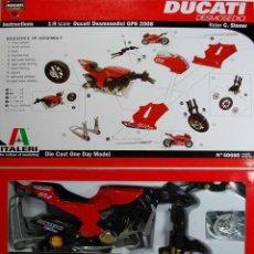 Maquetas: ITALERI - DUCATI DESMOSEDICI GP 8 2008 STONER 40656 1/9. Lote 110418799