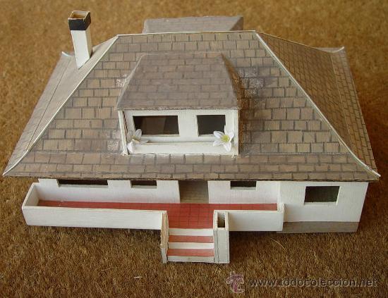 Maqueta en madera de casa chalet sanna comprar maquetas a escala de construcciones en - Maquetas de chalets ...