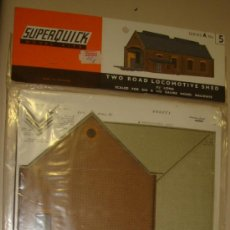 Maquetas: SUPERQUICK. SERIE A. Nº 5. TWO ROAD LOCOMOTIVE SHED. Lote 37452083