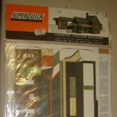 Maquetas: SUPERQUICK. SERIE A. Nº 2. COUNTRY STATION BUILDING. Lote 37452125
