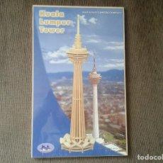Maquetas: MAQUETA EN MADERA -- PUZZLE 3D -- KUALA LUMPUR TOWER -- NUEVA, IMPECABLE, SIN ABRIR --. Lote 67943709