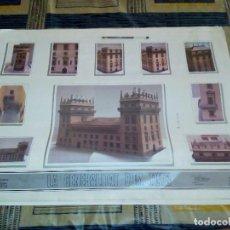Maquetas: MAQUETA 750 ANIVERSARIO PALAU DE LA GENERALITAT VALENCIANA AÑO 88-89 7 LAMINAS DE 70X50 VER IMAGENES. Lote 95905407