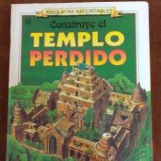Maquetas: CONSTRUYE EL TEMPLO PERDIDO- SUSAETA, 1991. Lote 96709975