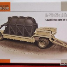 Maquetas: MAQUETA LIQUID OXYGEN FUEL TANK ON TRAILER FOR V-2 ROCKETS ESCALA 1/72. Lote 95796203