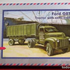 Maquetas: MAQUETA FORD G8TA TRACTOR WITH SEMI-TRAILER ESCALA 1/72. Lote 95799695