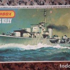 Maquetas: MATCHBOX MAQUETA DE BARCO PK 64 HMS KELLY ESCALA 1-700, AÑOS 80. Lote 96840983
