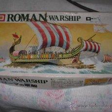 Maquetas: ANTIGUA MAQUETA BARCO ROMANO ROMAN WARSHIP. Lote 46646015