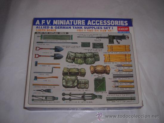 ACCESORIOS MILITARES AFV MINIATURE MAQUETA ESCALA 1/35 ACADEMY SET 1 - ARTICULO NUEVO (Juguetes - Modelismo y Radiocontrol - Maquetas - Militar)