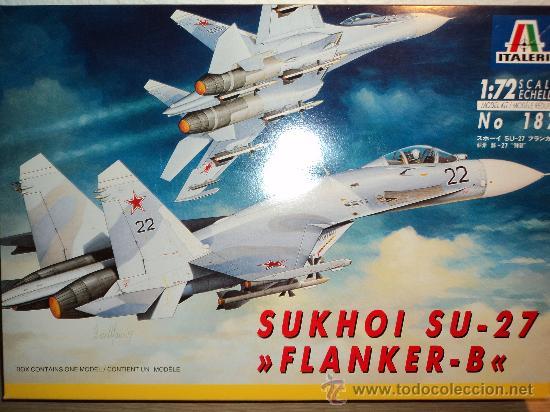 MAQUETA SUKHOI SU-27 FLANKER-B, ESCALA 1/72, MARCA ITALERI.- (Juguetes - Modelismo y Radio Control - Maquetas - Aviones y Helicópteros)