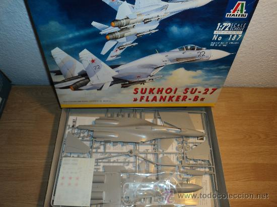 Maquetas: Maqueta SUKHOI SU-27 FLANKER-B, escala 1/72, marca ITALERI.- - Foto 2 - 26461783