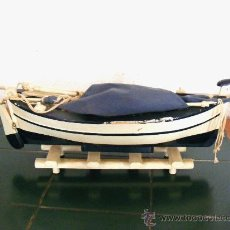 Models - antigua maqueta de barca de pescadores a vela y remo, barco - 21561065
