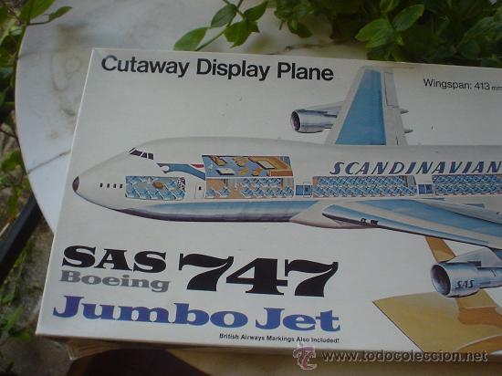 Maquetas: MAQUETA(SIN MONTAR) DEL AVION BOEING 747. JUMBO JET. - Foto 2 - 27278468