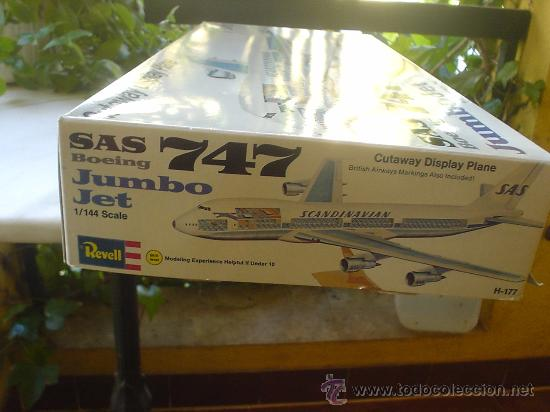 Maquetas: MAQUETA(SIN MONTAR) DEL AVION BOEING 747. JUMBO JET. - Foto 7 - 27278468