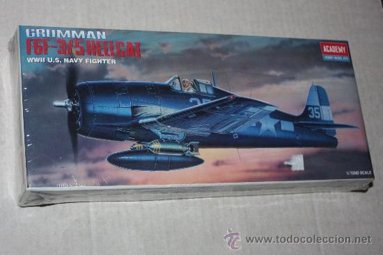 MAQUETA KIT DE ACADEMY A ESCALA 1/72 :AVION GRUMMAN F6F-3/5 HEWLLCAT (NUEVO). (Juguetes - Modelismo y Radio Control - Maquetas - Aviones y Helicópteros)