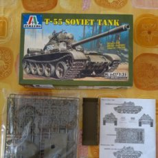 Maquetas: T-55 SOVIET TANK ITALIERI Nº 6427 1:35 NUEVO EN CAJA SIN DESTROQUELAR. MODELISMO. MAQUETA.. Lote 26156043