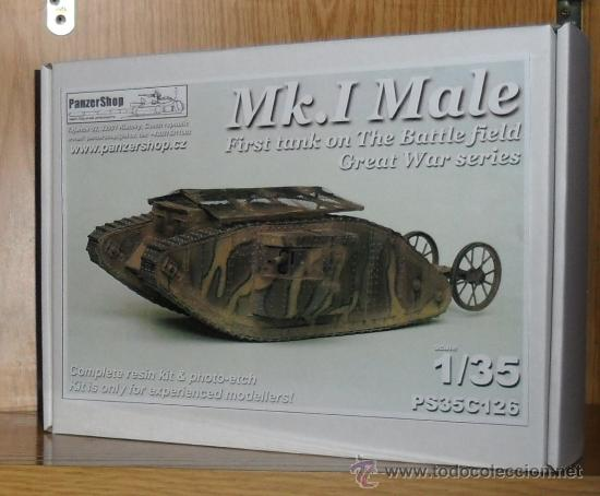 PANZERSHOP PAN-35C126 Mk I Male – First WWI British tank (resin &  photo-etch)