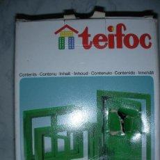 Maquetas: CAJA CONTENIEDO VENTANAS Y PUERTA DE TEIFOC PARA MAQUETAS DE CASAS DE LADRILLOS. Lote 26528990