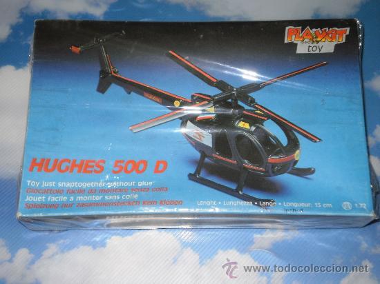 MAQUETA PLAYKIT TOY HELICOPTERO HUGHES 500 D , ESCALA 1:72 . MADE IN ITALY , AÑOS 80 . (Juguetes - Modelismo y Radio Control - Maquetas - Aviones y Helicópteros)