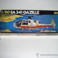 Maquetas: SA 341 GAZELLE MAQUETA HELICOPTERO 1/50 HELLER - ARTICULO NUEVO. Lote 27720007