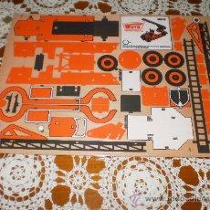 Maquetas: TABLA DE MADERA PARA RECORTAR CON LA SIERRA , MOD: COCHE DE BOMBEROS . NUEVA EN SU BLISTER .. Lote 27733965