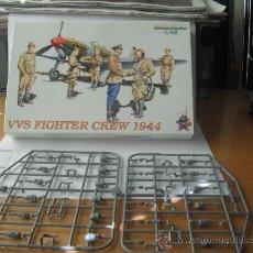 Maquetas: EDUARD. 6 SOLDADOS. VVS FIGHTER CREW 1944. ESCALA 1/48. Lote 28866485