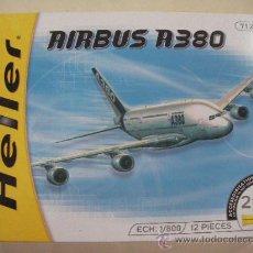 Maquetas: MAQUETA DE AIRBUS A380 DE HELLER EN SU CAJA. Lote 29452331