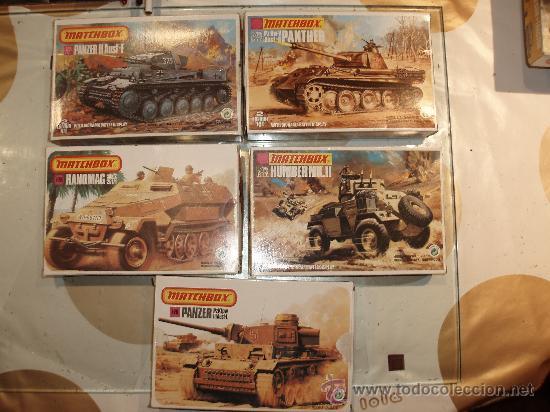 MATCHBOX MAQUETA DE 1/76,HUMBER MKII,PANZER, A ESTRENAR Y TANQUE RUSO T-34 (Juguetes - Modelismo y Radiocontrol - Maquetas - Militar)