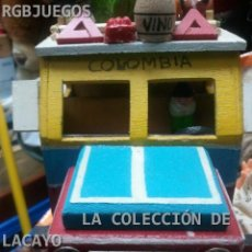 Maquetas: GUAGUA DE MADERA HECHA Y PINTADA A MANO COLOMBIA. Lote 30448961