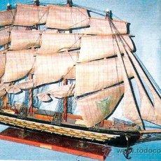 Maquetas: GRAN MAQUETA DE EMBARCACIÓN MODELO FRAGATA ESPAÑOLA DE 1780, DE MADERA Y TELA.. Lote 30890287