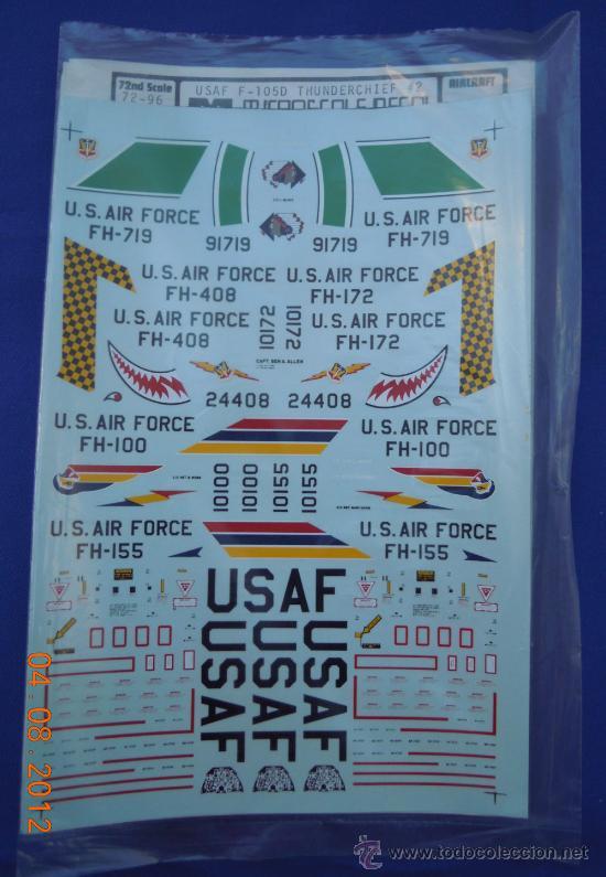 F-105 THUNDERCHIEF 1;72 CALCAS PARA AVIONES DE LA MARCA MICROESCALE (Juguetes - Modelismo y Radio Control - Maquetas - Aviones y Helicópteros)