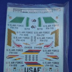 Maquetas: F-105 THUNDERCHIEF 1;72 CALCAS PARA AVIONES DE LA MARCA MICROESCALE. Lote 32747436