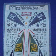 Maquetas: PHANTOM RF-4C 1:72 CALCAS PARA AVIONES DE LA MARCA MICROESCALE. Lote 32747467