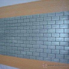 Maquetas: LAMINA DE PVC FLEXIBLE IMITANDO PARAMENTO DE LADRILLOS.12 X 24 CENTIMETROS. . Lote 36973244