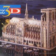 Maquetas: PUZZ 3D - MB - PUZZLE 3D DE LA CATEDRAL DE NOTRE DAME PARIS - 952 PIEZAS - DESCATALOGADO. Lote 50394280