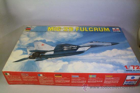 ESCI. #9058. AVIÓN MIG 29 FULCRUM. 1:72. AÑOS 80-90 (Juguetes - Modelismo y Radio Control - Maquetas - Aviones y Helicópteros)