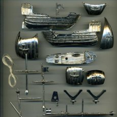 Maquetas: MAQUETA METALICA PLATEADA CARABELA DE COLON DE 16 CENTIMETROS VEA FOTOS. Lote 36418814