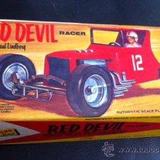 Maquetas: MAQUETA COCHE HOT ROD RED DEVIL RACER DE PAUL LINDBERG AÑOS 40-50 AMERICANO . Lote 37310151