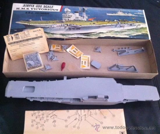 Maquetas: maqueta barco militar airfix 600 scale h.m.s. victorious años 60 completa ! - Foto 2 - 37438524