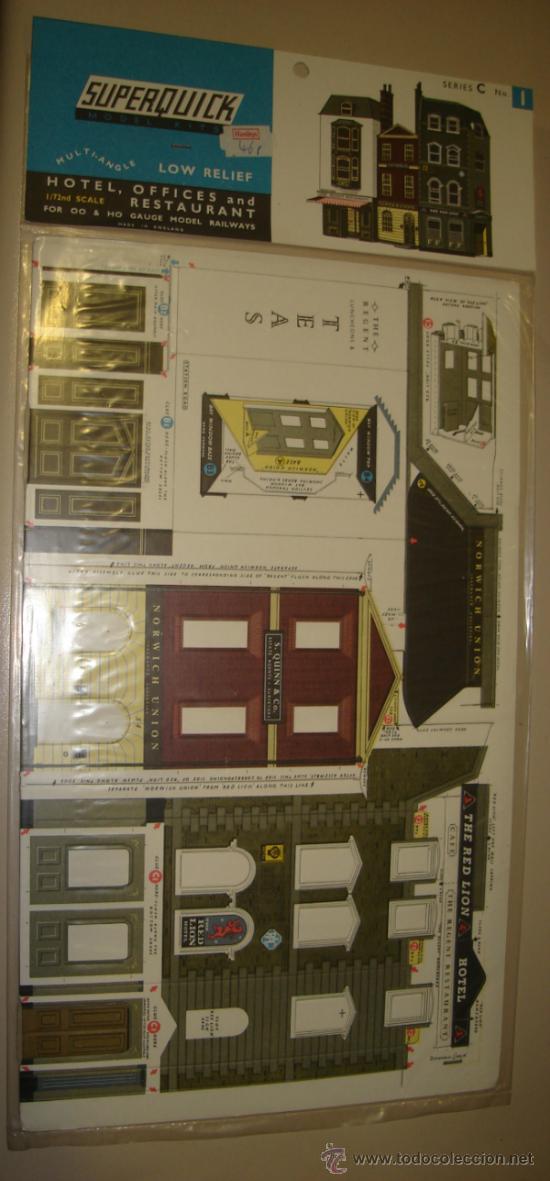 SUPERQUICK. SERIE C. Nº 1. HOTEL, OFFICES AND RESTAURANT (Juguetes - Modelismo y Radiocontrol - Maquetas - Construcciones)