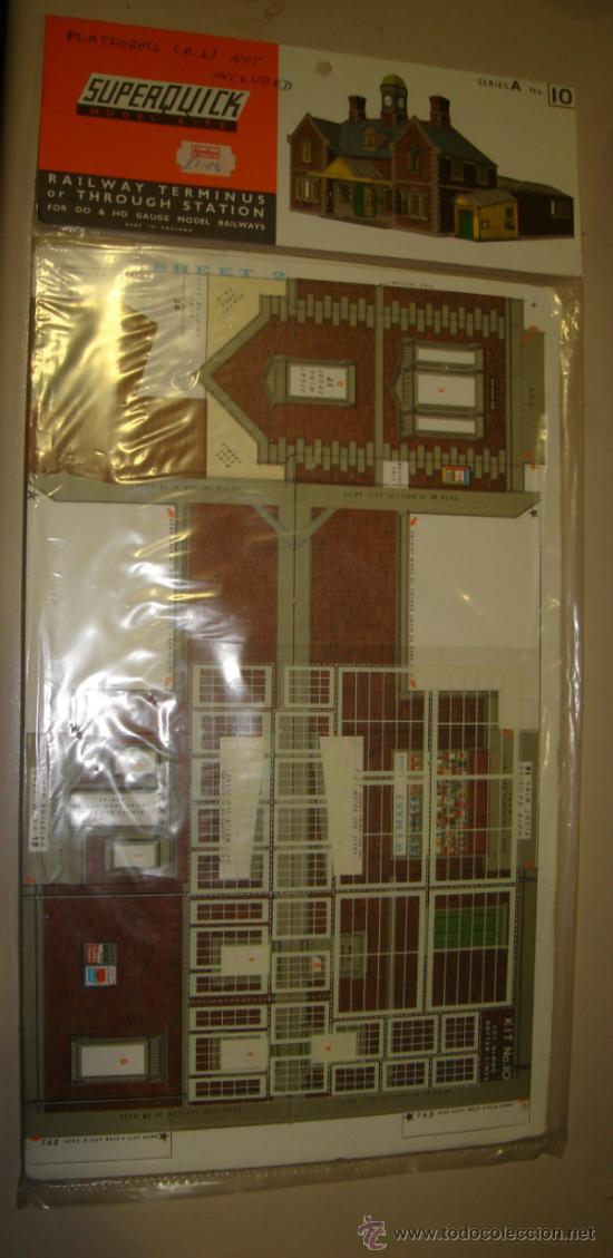 SUPERQUICK. SERIE A. Nº 10. RAILWAY TERMINUS OR THROUGH STATION (Juguetes - Modelismo y Radiocontrol - Maquetas - Construcciones)