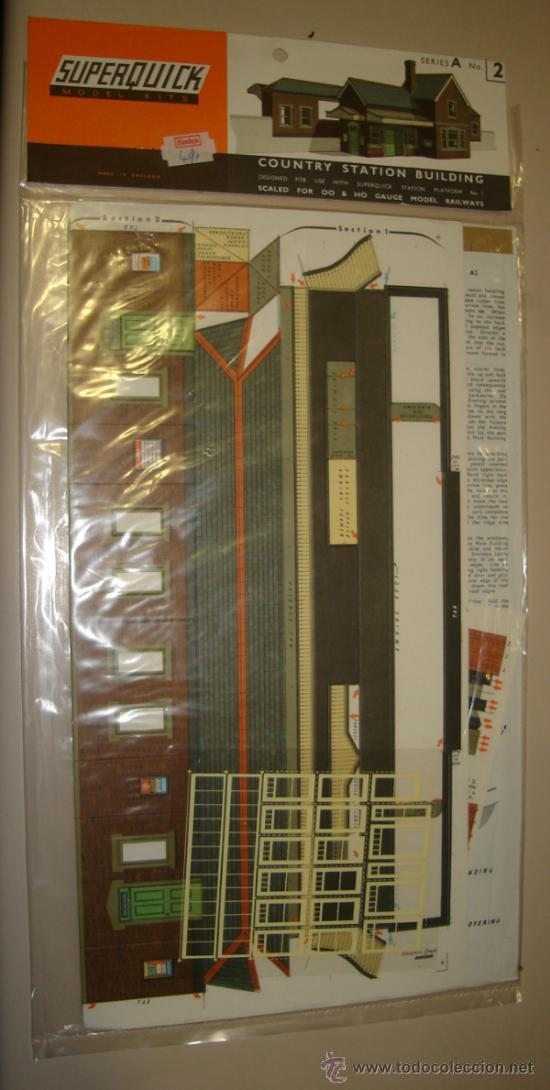 Maquetas: SUPERQUICK. SERIE A. Nº 2. COUNTRY STATION BUILDING - Foto 1 - 37452125