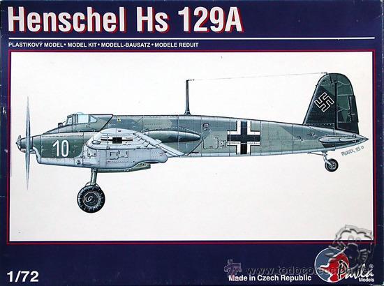 MAQUETA PAVLA 1/72 HENSCHEL HS 129A #72004 (Juguetes - Modelismo y Radio Control - Maquetas - Aviones y Helicópteros)