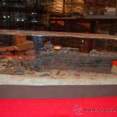 Maquetas: DIORAMA DE LA POPA DEL RMS TITANIC, YACIENDO EN EL FONDO DEL MAR. ESCALA 1/250. Lote 38369920
