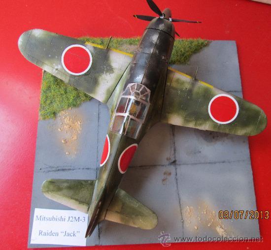 MITSUBISHI J2M-3 RAIDEN.DIORAMA ESCALA 1/72 (Juguetes - Modelismo y Radio Control - Maquetas - Aviones y Helicópteros)