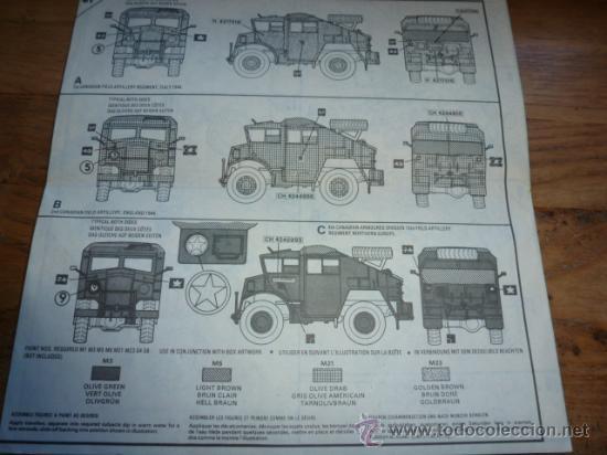 Maquetas: Instrucciones de montaje de maqueta Airfix de Canadian Chevrolet Field artillery tractor - Foto 2 - 38684827