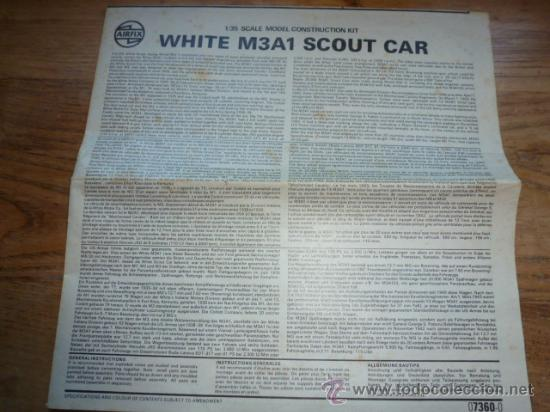 INSTRUCCIONES DE MONTAJE DE MAQUETA AIRFIX WHITE M3A1 SCOUT CAR (Juguetes - Modelismo y Radiocontrol - Maquetas - Militar)