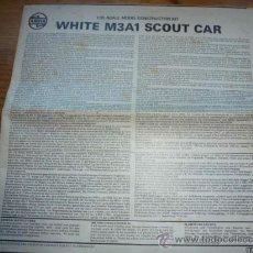 Maquetas: INSTRUCCIONES DE MONTAJE DE MAQUETA AIRFIX WHITE M3A1 SCOUT CAR. Lote 38684839
