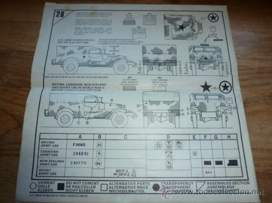 Maquetas: Instrucciones de montaje de maqueta Airfix White M3A1 Scout Car - Foto 2 - 38684839