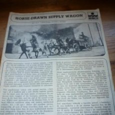 Maquetas: INSTRUCCIONES MONTAJE HORSE DRAWN SUPPLY WAGON ESCI. Lote 38685610