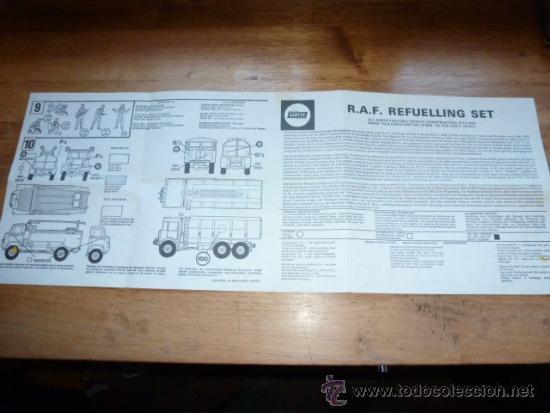 INSTRUCCIONES DE R.A.F REFUELLING SET AIRFIX (Juguetes - Modelismo y Radiocontrol - Maquetas - Militar)